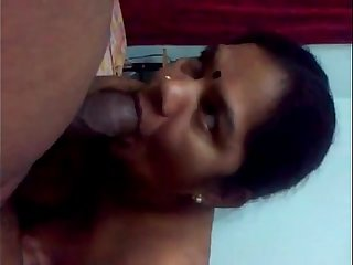 Mature south bhabhi sucking big cock her partner naked